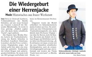 Zeitung Jacke Christoph